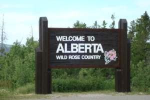Moving to Alberta - Welcome to Alberta sign